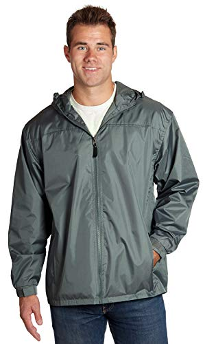 Equipment De Sport USA Men's Lined Hooded Wind Resistant/Water Repellent Windbreaker -
