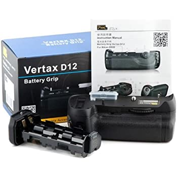 Pixel Vertical Battery Grip Pack for Nikon D800, replaces Nikon MB-D12