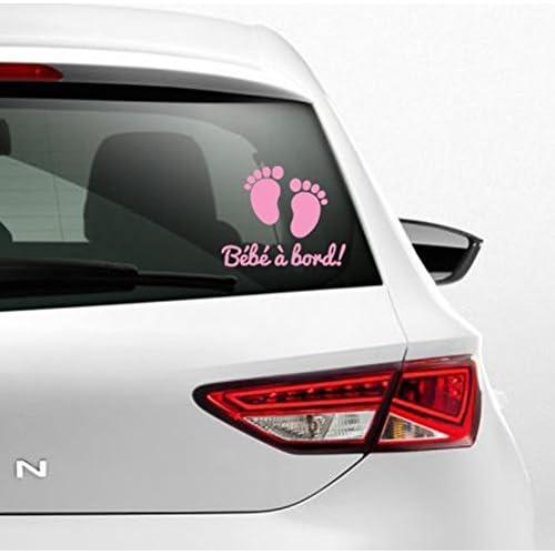 Sticker autocollant rose clair bébé à bord petit pied bébé de Kdosublim 50%OFF