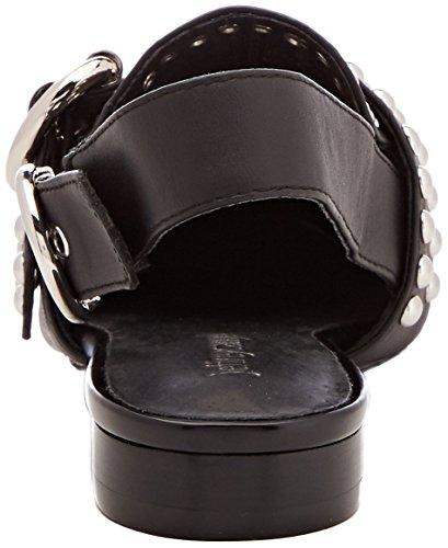 Fermé Bout Sandales Femme Studs Jeffrey Leather Noir Silver Campbell 001 Daniel Multicolore 7 SB Black wqxgwYHBX