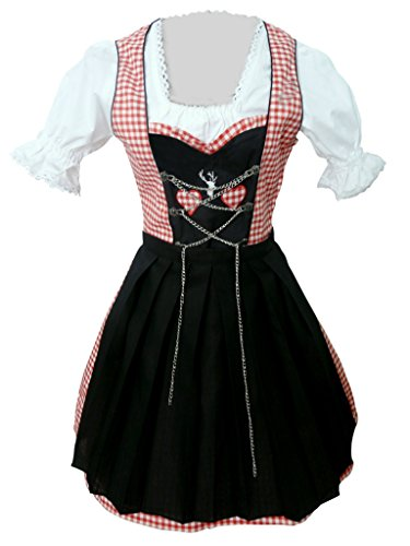 Dirndl Blouse Costumes - Dirndl World Womens Di04, German Bavarian
