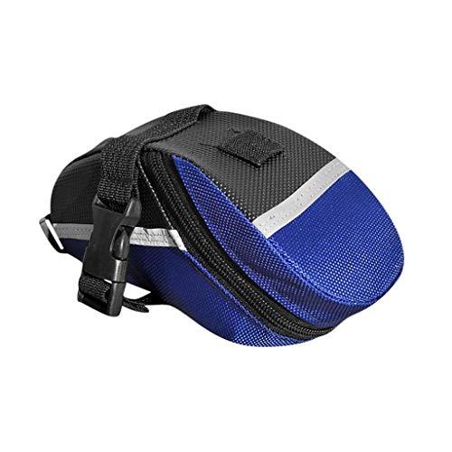 The Seat Saddlebag - IslandseBicycle Bike Waterproof Storage Saddle Bag Seat Cycling Tail Rear Pouch (Blue)