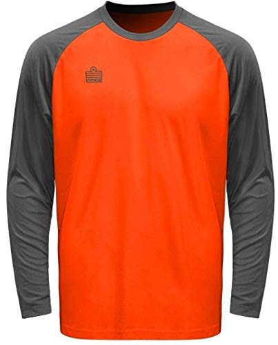 - Admiral Sentry Goalkeeper Jersey, Fluorescent Orange/Steel, Adult Small