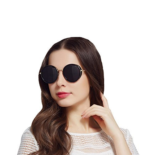 Jardin d'amour Women Polarized Mens Round Oversized Sunglasses UV Protection JA6067 - 70 Sunglasses Off