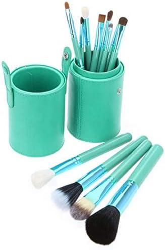 12 brochas de maquillajes profesionales con estuche sombra pinceles delineador de ojos, brush colorete, corrector de polvo de REGALO limpiador masajeador eléctrico silicona organica: Amazon.es: Belleza