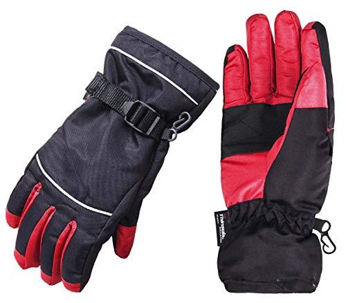 Wantdo Men's Waterproof Warm Ski Gloves Outdoor Snowmobile Gloves XL