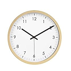 AmazonBasics 12 Traditional Wall Clock, Brass