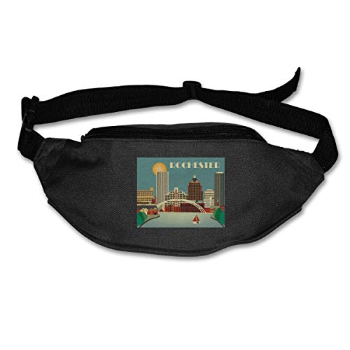 Waist Bag Fanny Pack Rochester New York Pouch Running Belt Travel Pocket Outdoor Sports