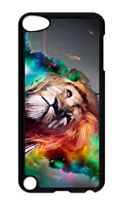 Ipod 5 Case,MOKSHOP Awesome lion rainbow art Hard Case Protective Shell Cell Phone Cover For Ipod 5 - PC Black