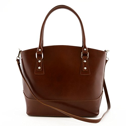 Tuscan Leather Brown Shoulder Bag Made Woman With Genuine Italy Leather Bag Color Metal In Woman Feet qxOCSP7w
