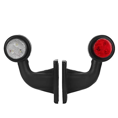 Duokon Car Side Small Elbow Stalk lamp,2pcs 12 LED Elbow Side Marker Indicator Light IP65 Waterproof HL-Q-014-P: