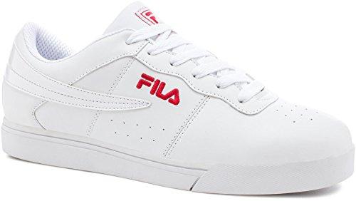 Fila Men's Vulc 13 Low Fashion Sneakers, White Synthetic, 12 M
