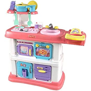 Amazon Com Fisher Price Grow With Me Cook And Care Pink Kitchen