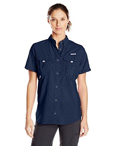(Columbia Women's Bahama Short Sleeve Shirt, Collegiate Navy, X-Large)