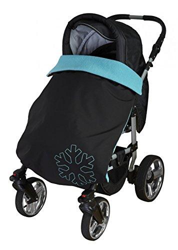 ByBoom® Softshell Decke 70x100 cm Thermo Aktiv; Funktions-/Universal-/Outdoor-Babydecke für Kinderwagen, Buggy, Jogger, Farbe:Grau/Grau