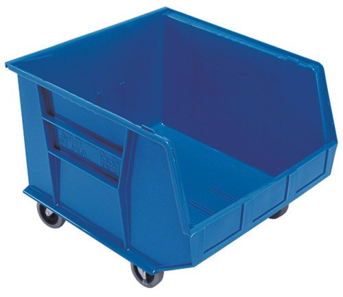 Quantum QUS275MOBBL Plastic Storage Stacking Ultra Bin Mobile, 18-Inch by 16-1/2-Inch by 11-Inch, Blue, Case of 3 by Quantum Storage Systems