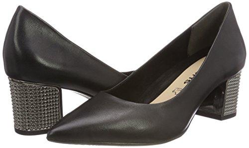 Tamaris Femme Leather 3 black Noir 22411 Ballerines rEx0waZrq