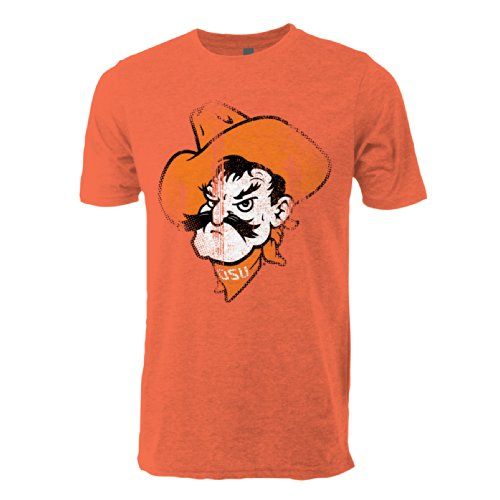 NCAA Oklahoma State Cowboys Vintage Sheer Short Sleeve Tee, Small, Heather Orange (Cycling State Oklahoma Jersey)