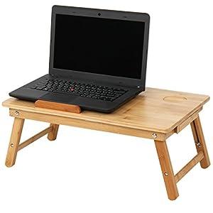 Miadomodo tavolino da letto portatile tavolino letto pc bamb regolabile in altezza con ventola - Poggia computer da letto ...