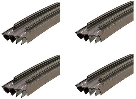 Brown M-D Building Products 67967 Kerf Style 36 Inch Vinyl Replacement Door Bottom with Vinyl Fins Вundlе оf Fоur