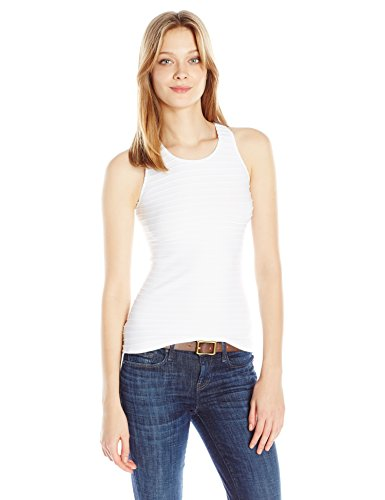 (Sugarlips Women's Seamless Ribbed Tank Top, White, One Size)