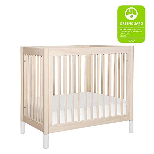 Babyletto Gelato 2-in-1 Mini Crib, Washed Natural / White