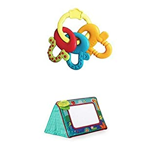 Bright Starts License to Drool Teether &  Bright Starts Sit and See Floor Mirror, Safari