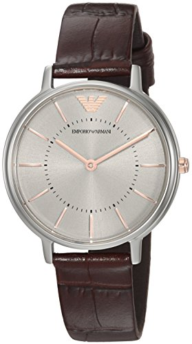Emporio Armani Women's 'Fashion' Quartz Stainless Steel Casual Watch, Color:Brown (Model: AR11063)