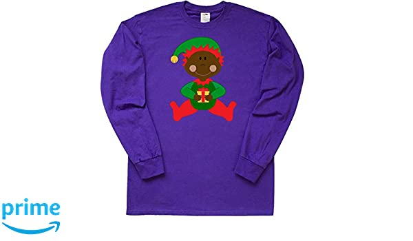 0aab67245 Amazon.com: inktastic - Christmas Elf ethnic Long Sleeve T-Shirt 1f9bb:  Clothing