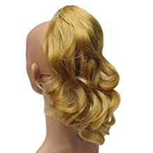 Sweet Short Curly Pony Tail Hair Extension, (Claw Grip) (Golden Blonde)