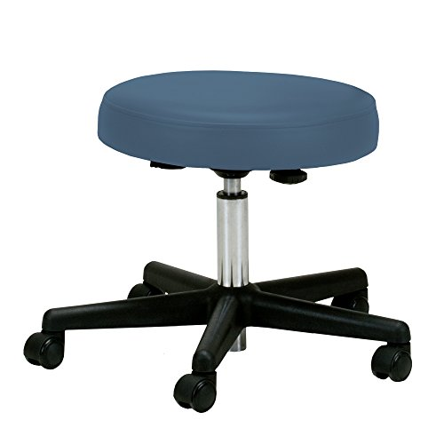 EARTHLITE Pneumatic Massage Salon Drafting Stool - No Leaking (vs. Hydraulic), Adjustable, Rolling, CFC-Free, Medical Spa Facial Chair