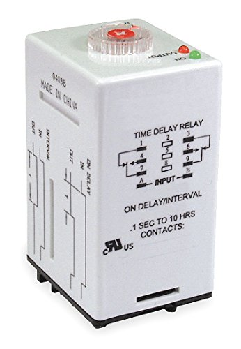 - Dayton 1EJN9 Relay, Time Delay, DPDT, Off Delay I, 8Pin