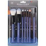 Kit Kp5-9A com 7 Pincéis Para Maquiagem - Azul, Macrilan