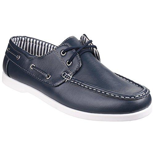 Fleet & Foster Falmouth - Chaussures Bateau - Homme Bleu Marine wbqqxvBl3