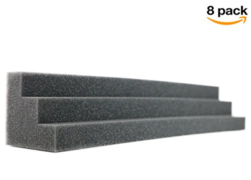 Column Acoustic Wedge Studio Foam Corner Block Finish Corner Wall in Studios or Home Theater (8 Pack) by NEW LEVEL