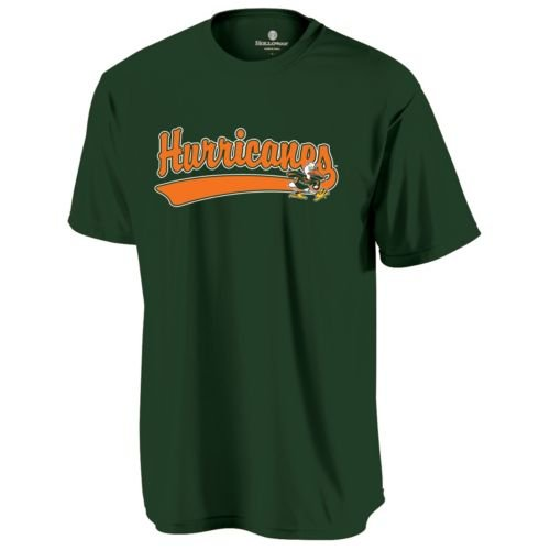 (CREWNECK MIAMI HURRICANES Dry Excel Wicking Tee YOUTH SMALL Licensed NCAA College Replica Jersey)