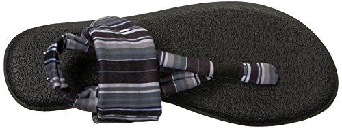 Femme Sanuk PrintsTongs 2 Blanket BlackWhite Yoga Sling IYHWED92