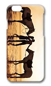 MOKSHOP Adorable couple beach kiss Hard Case Protective Shell Cell Phone Cover For Apple Iphone 6 Plus (5.5 Inch) - PC 3D