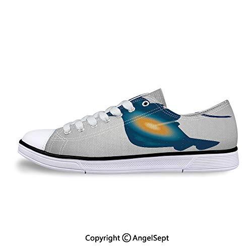 - Unisex Canvas Shoes Nebula Star Spacesuit Double Exposure Low-Top Sneakers