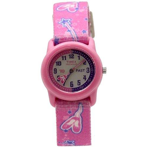 Ballerina Pink Elastic Analog Watch (Kids Indiglo Elastic Strap Watch)