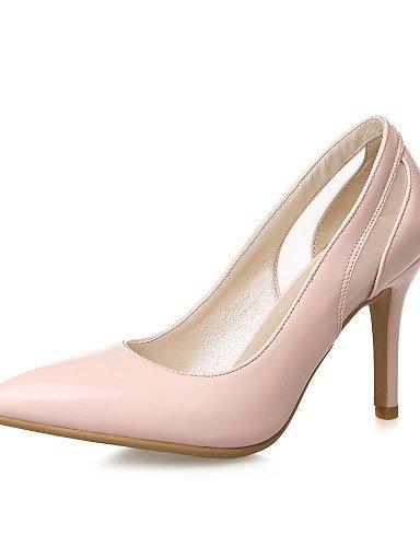 GGX/ Damen-High Heels-Büro / Lässig-Lackleder-Stöckelabsatz-Absätze / Spitzschuh-Schwarz / Rosa / Weiß pink-us5 / eu35 / uk3 / cn34