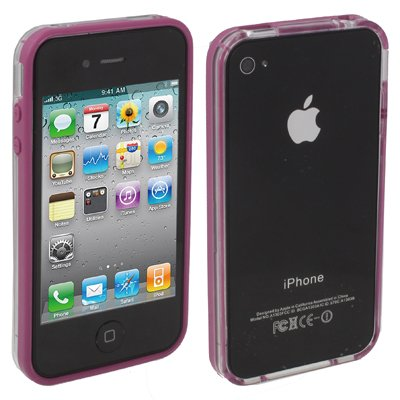 "Original THESMARTGUARD iPhone 4S / 4 Bumper im ""Transparo-Style"" - lila"