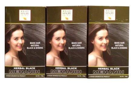 bb5f4843ccfb9 Buy Khadi Herbal Black Henna - Pack of 3 - Premium Natural Kali ...