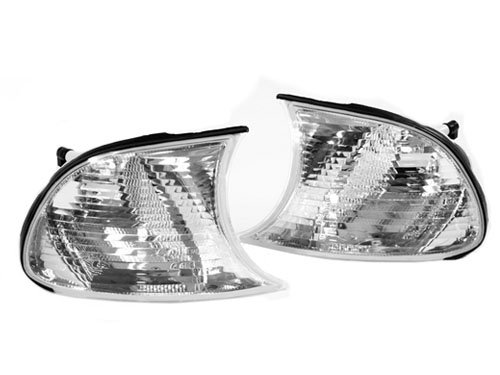 TopPick Corner Lights FOR BMW E46 3-Series 2DR, M3 2002-2003, 2002-2006 Clear/Chrome 63137165857-63137165858 ()