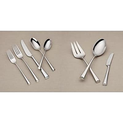 Dansk Bistro Cafe 43 Piece 18/10 Stainless Steel Flatware Set, Service for 8
