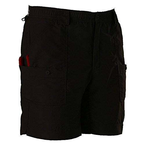 AFTCO Bluewater M01L Long Traditional Fishing Shorts - Black - 28