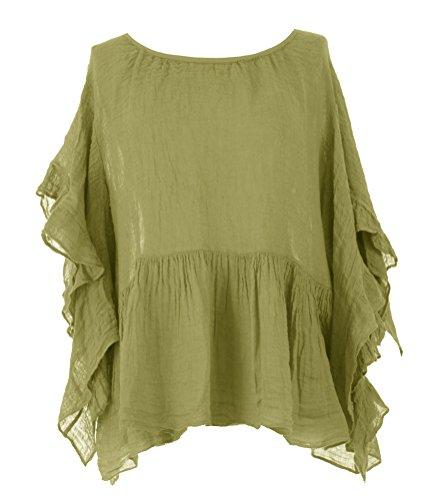 TEXTUREONLINE - Camisas - Básico - para mujer lime green
