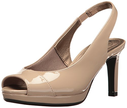 LifeStride Women's Invest Dress Sandal, Tender Taupe, 9.5 W US