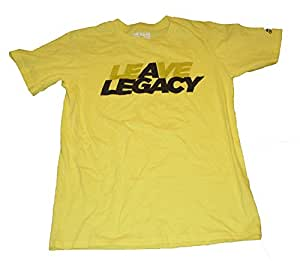 Adidas Men's Leave A Legacy Fitted Short-Sleeve Top - Small, Yellow