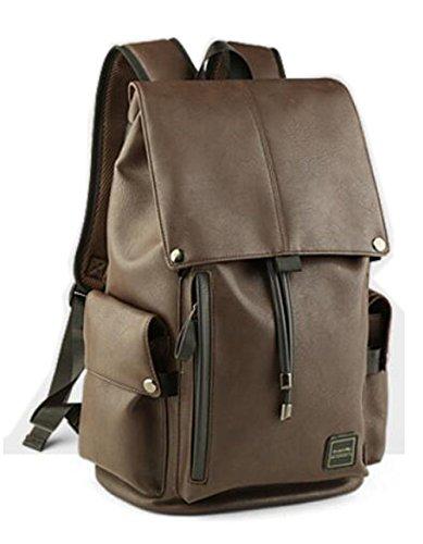 Herren-Reisen Rucksack Wasserdichte Ledertasche Vintage Style Schultaschen Rucksack